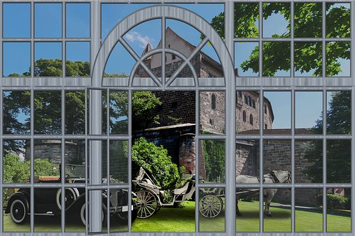 Window, Architecture, Glass, Outlook, Castle, Coach