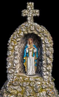 Grotto, Maria, Virgin Mary, Christian Art, Ceramic