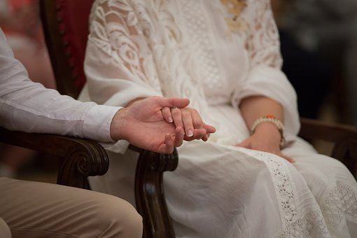 Couple, Alliance, Hand, Union, Love, Chair, Dress