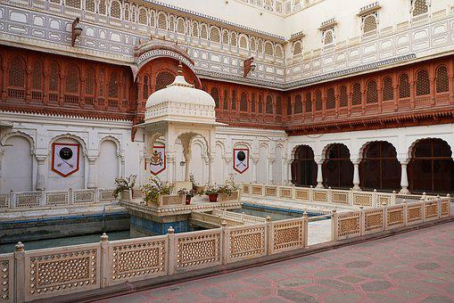 Bikaner, India, Architecture, Palace, Courtyard