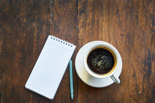 Coffee, Note Book, Cup, Notebook, Cafe, Note, Read