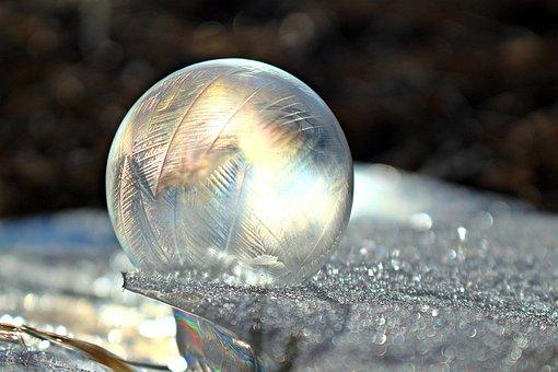 Soap Bubble, Frost Globe, Frozen Bubble, Light, Crystal