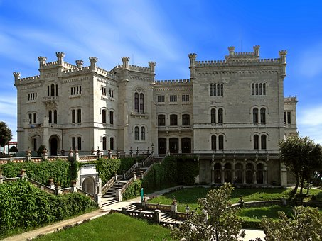 Castle, Outdoors, Miramare, Italy