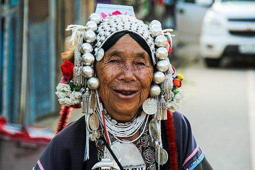 People, Portrait, Adult, Elderly Woman, Exotica