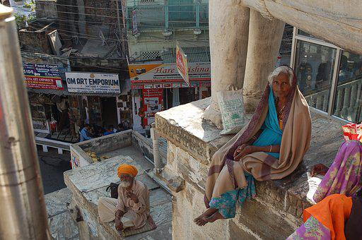 People, Religion, Market, India, Woman, Street, Town