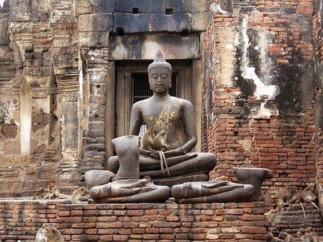 Monkey, Animals, Castle Rock, Phra Prang Sam Yot