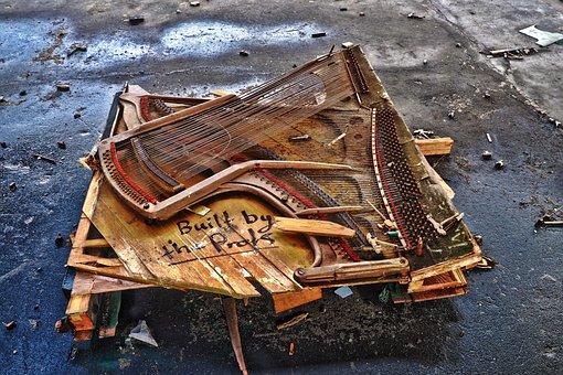Old, Piano, Instrument, Music, Piano Keyboard