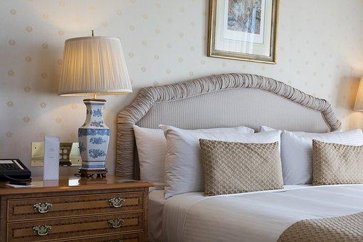 Furniture, Room, Pillow, Lamp, Bedroom, Hotel, Suite