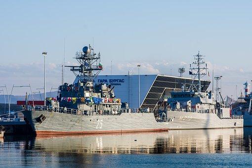 Water, Sea, Pier, Watercraft, Harbor, Navy, Port Burgas