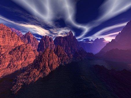 Nature, Mountain, Travel, Landscape, Sunset, Rock, Lake