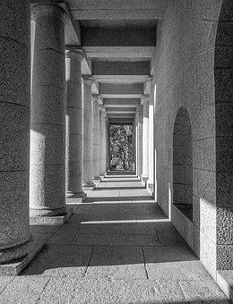 Rhodes Memorial, Architecture, Building, Column, Stone