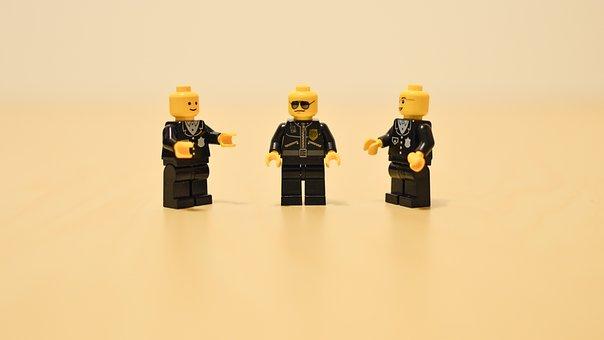 Police Officer, Team, Lego, Group, Team Work