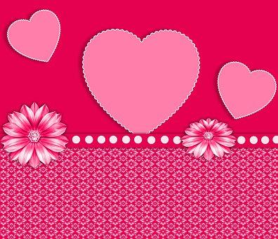 Love, Romantic, Background, Texture, Heart, Design