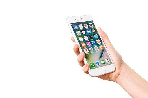 Iphone 7, Isolated, Touch, Application, Apple, Business