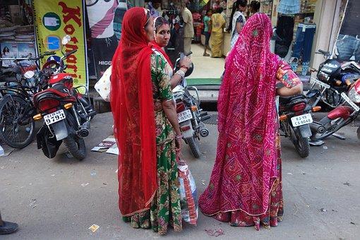 People, Street, Market, Wear, City, India, Women