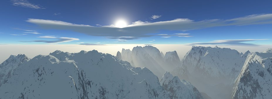 Panoramic, Snow, Panorama, Winter, Nature, Mountains
