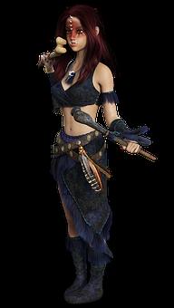 Woman, Amazone, Combative, Fight, Fantasy, Magic