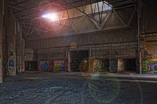 Architecture, Leave, Old, Building, Warehouse, Empty