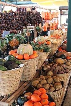 Market, Basket, Fruit, Food, Grow, Vegetable, Sale