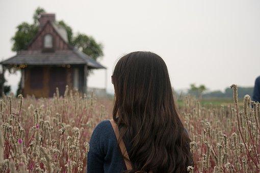 The Grassland, Flower, Beautiful Flowers, Girl