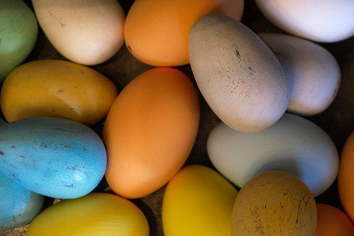Food, Egg, Easter, Bless You, Background, Colorful
