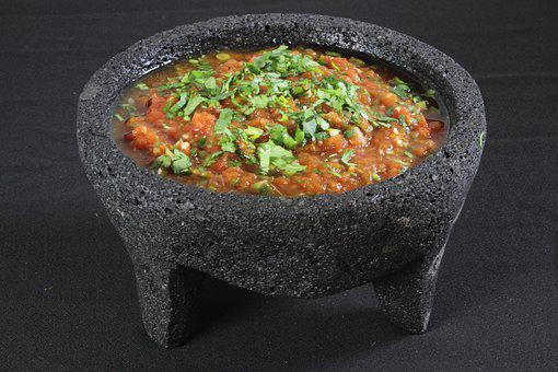 Mexican, Food, Vegetable, Salsa, Bowl, Traditional, Red