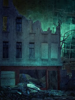 Abandoned, The Darkness, Broken, Old, Architecture