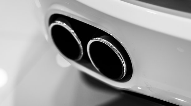 Audi R8, R8, V8, White, Car, Exhaust, Exhaust Tips