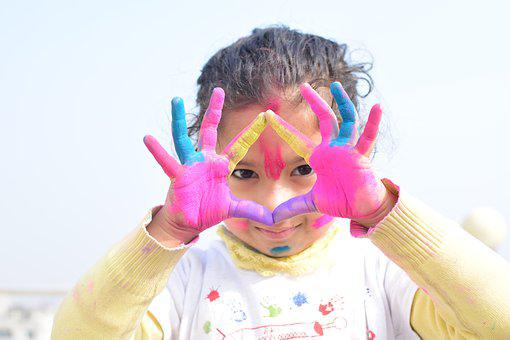 Child, Fun, Cute, Joy, Little, Colors, Colorful, Holi