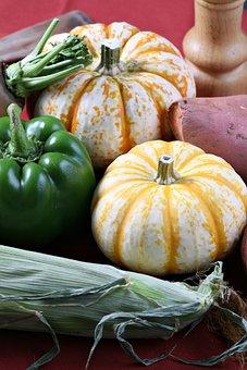 Food, Vegetable, Pumpkin, Closeup, Freshness, Color
