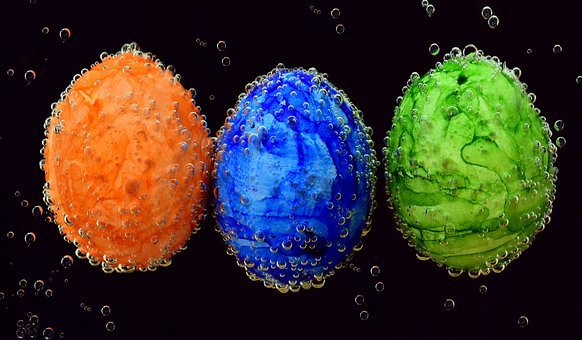 Egg, Easter, Colorful, Underwater, Color, Dye Eggs