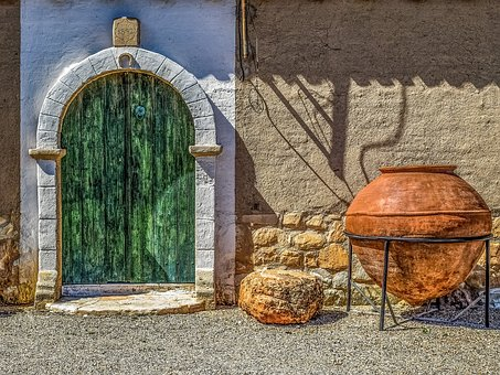 Architecture, Old, House, Door, Gate, Container