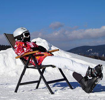 Recreation, Relax, Rest, Girl, Skier, Peace