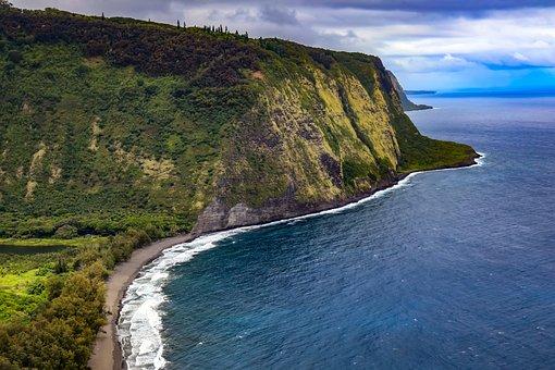 Seashore, Water, Sea, Panoramic, Landscape, Hawaii
