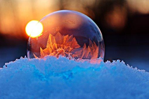 Soap Bubble, Frozen Bubble, Frost Blister, Ice Ball