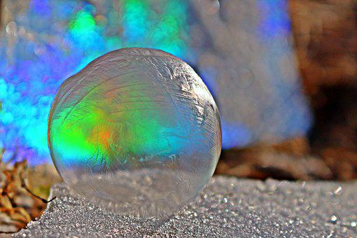Soap Bubble, Ice Crystal, Frost Blister, Frozen Bubble