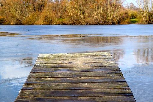 Web, Lake, Winter, Frozen, Waters, Nature, Wood, River
