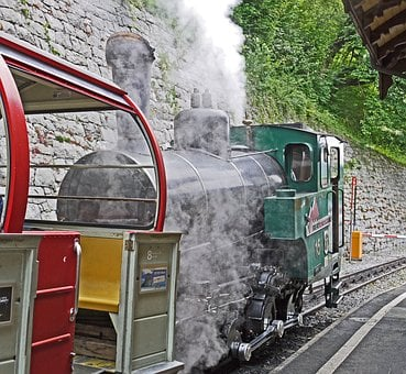 Steam Locomotive, Mountain Railway, Brienz