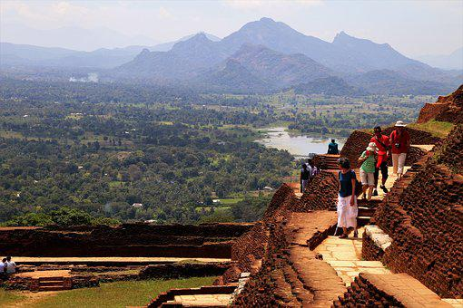 Sigiriya, Sri Lanka, Mountain, Travel, Nature, Stairs