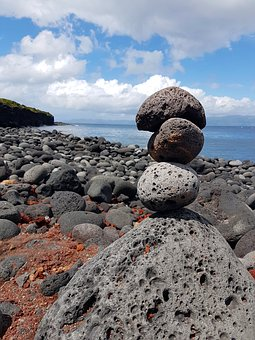 Rock, Stone, Nature, Sea, Coast, Balance, By The Sea
