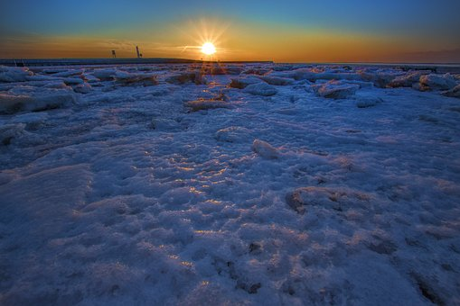 Sunset, Sea, Waters, Dusk, Coast, Beach, Nature, Ocean