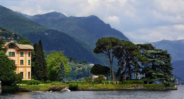 Lake, Como, Northern, Italy, Luxury, House, Lakeside