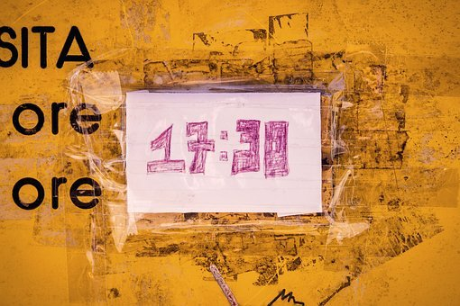 Nuber On The Wall, 17 30, Wall, Paper, Text, Yellow