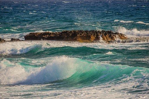 Shoal, Water, Surf, Sea, Ocean, Wave, Rock, Nature