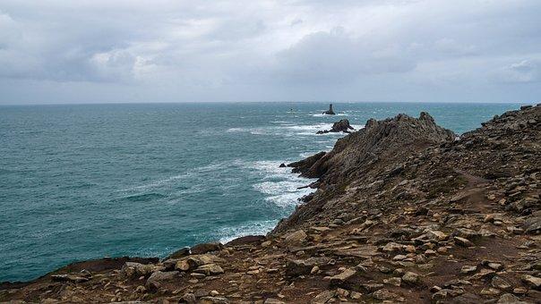 Sea, Rock, Lighthouse, Landscape, Pointe Du Raz
