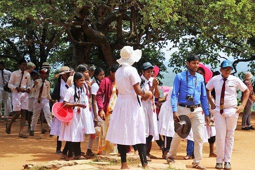 Sri Lanka, Child, Group, Fun, School, Religion, Tour