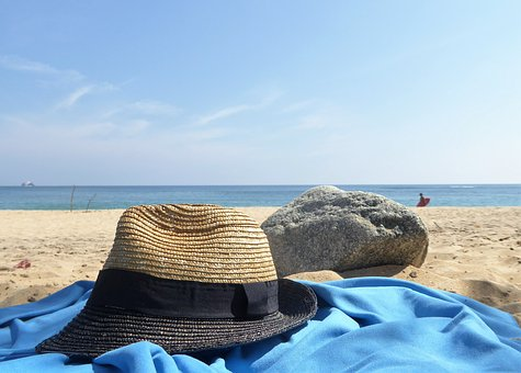 Beach, Sea, Ease, Coast, Waters, Sand, Sun Hat, Summer