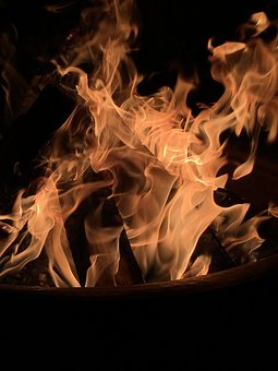 Flame, Smoke, Dark, Abstract, Burn, Shape
