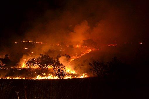 Smoke, Flame, Outdoors, Heat, Nature, Burn, Silhouette