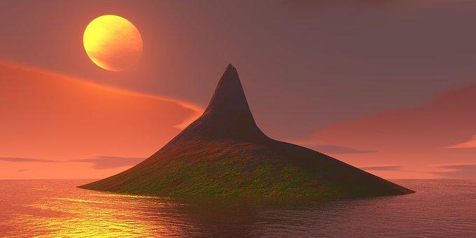 Sunset, Nature, Panoramic, Outdoors, Sky, Island
